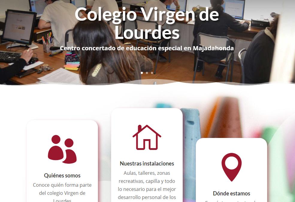 El colegio Virgen de Lourdes estrena nuevo sitio web